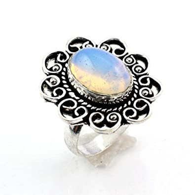 Costume Jewellery Rings Helpful Blue Aqua Chalcedony Fashion Jewelry Silver Plated Ring S28192