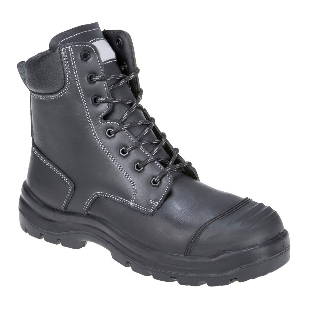 Brite Safety Eden Safety Boot - Protective Work Shoes with Steel Toecap Puncture Resistant Footwear with Cold Insulation for Men and Women (Black,6)