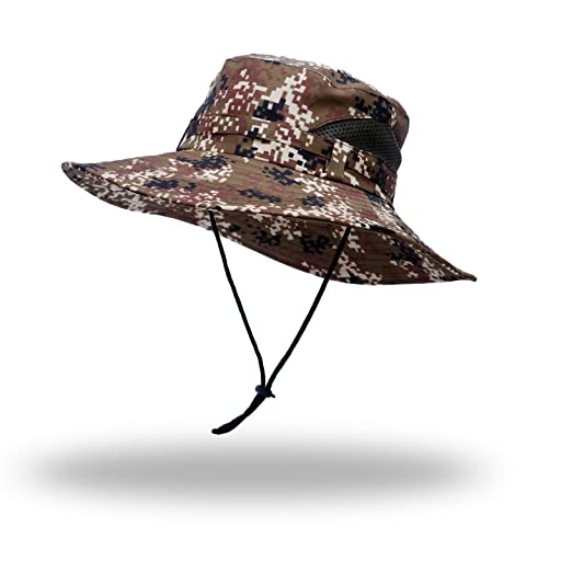 4149d07228f9b Image Unavailable. Image not available for. Color  Anleolife ACU Digital  Camo Boonie Hat Travel Biking ...