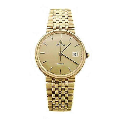 Reloj Cyma oro 18k hombre anilla esfera champán 6359 [AB3897] - Modelo: 6359: Amazon.es: Joyería