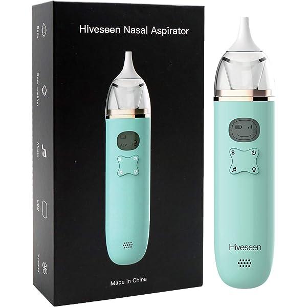 Hiveseen Aspirador Nasal Bebes Electrico con Música y Pantalla LCD ...