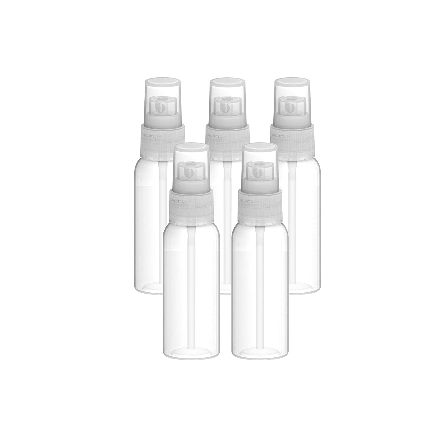Fortitude Spray 50Ml Bottle – Transparent Small Spritzer Bottles 1.7 Oz – Premium Food Grade (LDPE) Refillable Bottle – Travel Friendly – Ideal for Cosmetics, Perfume, Essential Oils (10-Pack)