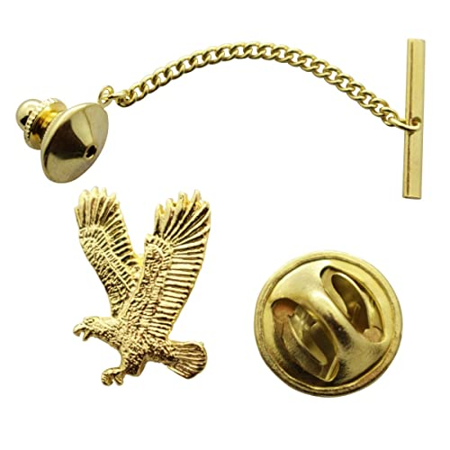 3da59583fe54 Image Unavailable. Image not available for. Color: Sarah's Treats & Treasures  Flying Eagle Tie Tack ~ 24K Gold ~ Tie Tack Pin