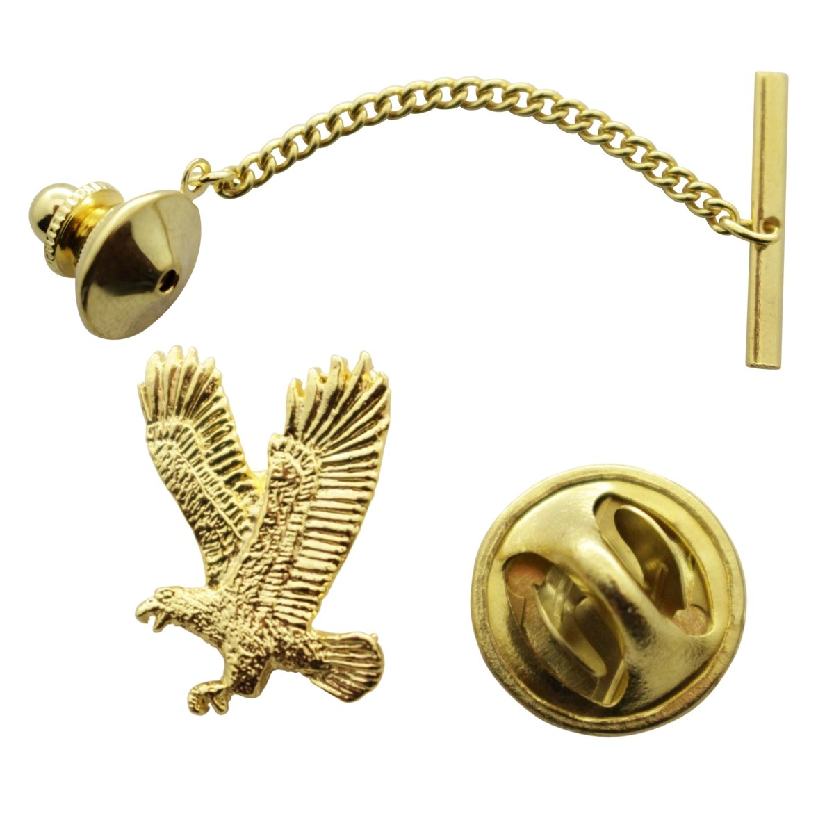 Flying Eagle Tie Tack ~ 24K Gold ~ Tie Tack or Pin ~ Sarah's Treats & Treasures