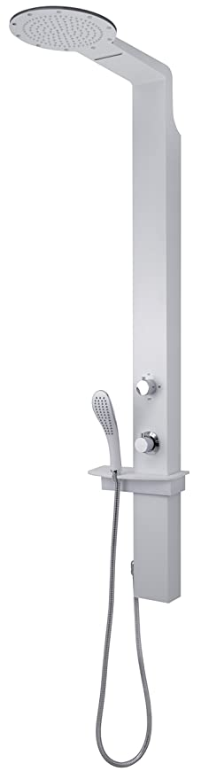 Gedy Thermostatic Shower Column.Gedy Gysp10501 Shower Column With Waterfall Shower Head White Colour