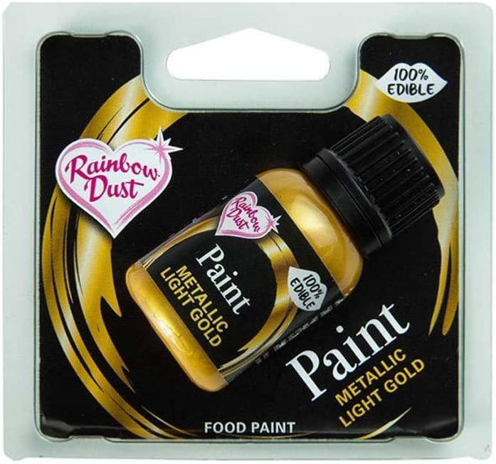 Rainbow Dust Metallic Food Paint Metallic Light Gold