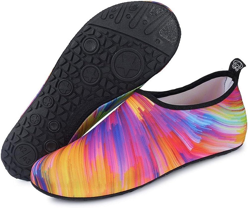 WOWEI Zapatos de Agua Antideslizante Secado R/ápido Calcetines de Piel Descalza Escarpines de Verano Deportes Acu/áticos para Playa Nataci/ón Snorkel Surfeando Yoga Buceo para Mujer Hombre Ni/ños