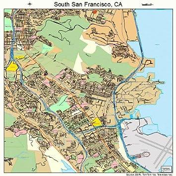 Amazon.com: Large Street & Road Map of South San Francisco ...