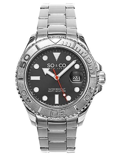 SO & CO New York Club de Nueva York para hombre de yates reloj infantil de