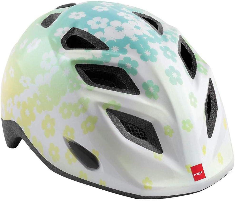 Adulte Cyclisme Mixte Enfant Multicolore Met Casque Genio Blanc Fleurs M 52-57