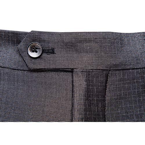 Coupe Mariage Garçon De Robe Veste Pièces 2 Pour Formelle Costume Bouton Grey Travail Homme Vintage Classique U4SH6w
