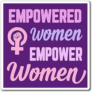 Empowered Women Empower Women Car Sticker, PVC Sticker Car Bumper Decals for Cars Windows Walls Fridge Laptops 11inch