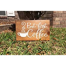 Susie85Electra But First Coffee But First Coffee Sign No Talkie Before Coffee Rustic Wood Sign Rustic Home Decor