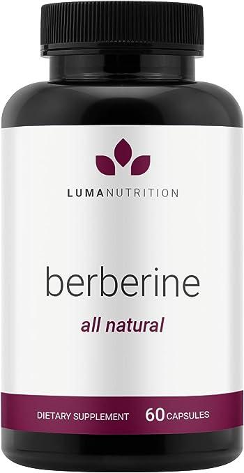 Berberine Supplement - Berberine 1200mg Per Serving - Berberine HCI - Berberine Plus - Blood Sugar Support Supplement - 60 Berberine Capsules