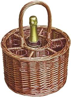 Red Hamper wh017/Home Rosso Hamper wh017/Home piccolo Deluxe Single Bottle bevande cestino, Brown, 32x 32x 21cm, Marrone 32x 32x 21cm