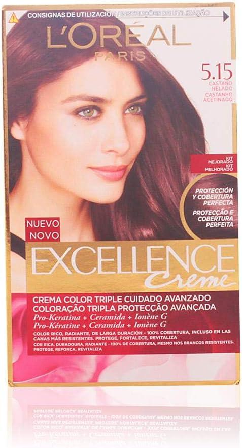 LOréal Paris Excellence Coloración Crème Triple Protección 5,15
