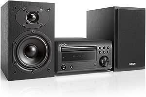 Denon D-M41 Home audio mini system 60W Negro, Plata - Microcadena (Home audio mini system, Plata, 60 W, De 2 vías, 12 cm, 2,5 cm)
