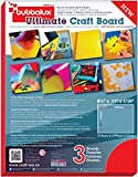 Floortex CraftTex Bubbalux, Ultimate Creative Craft Board, Heart Red, Pack of 3 Letter Size Sheets (FPBU118RD)