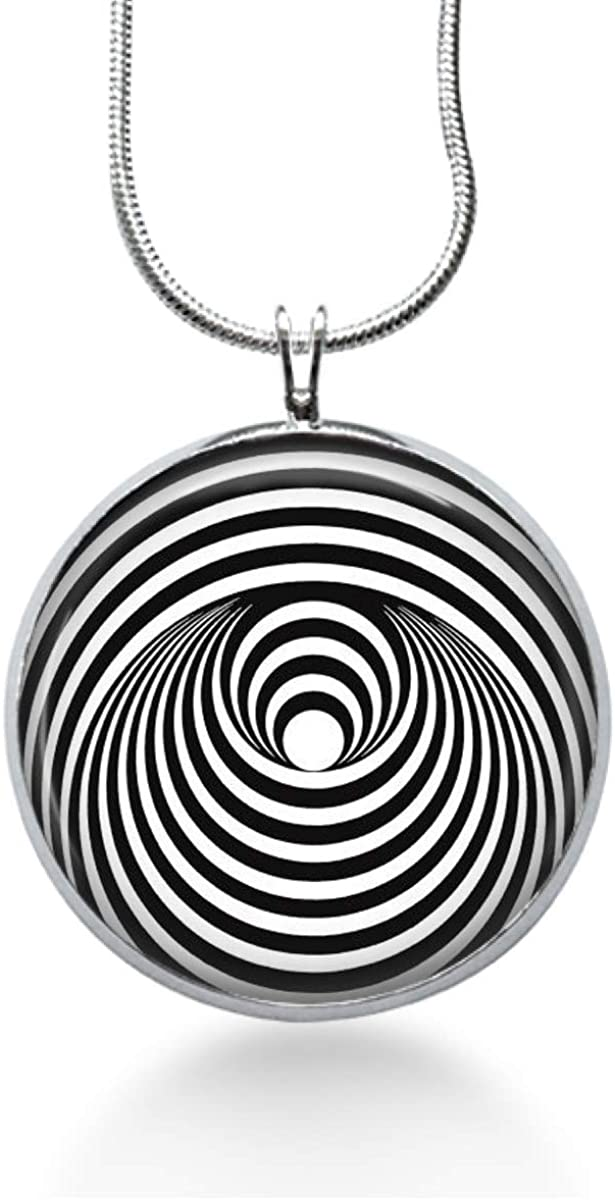 Abstract Black and White Necklace for her-Fun Jewelry Shop Eye catching