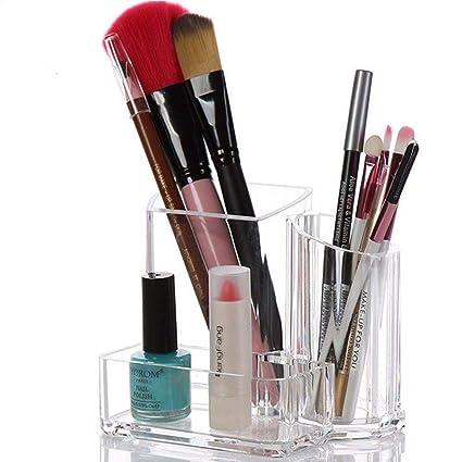 Klicop - Estuche para brochas de maquillaje, 3 rejillas ...