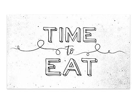 GRAZDesign Bilder Glas Time to eat - Wandbilder Glas Küche - Glas ...