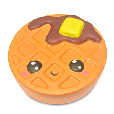 Serenilite Slow Rising Scented Squishy Toy - Perfect Cute Squishies for Squeezing & Stress Relief - 1 Piece (Waffle): Toys & Games