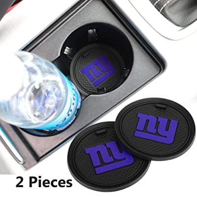 2 Pack 2.75 inch for New York Giants Car Interior Accessories Anti Slip Cup Mat for All Vehicles (New York Giants): Automotive