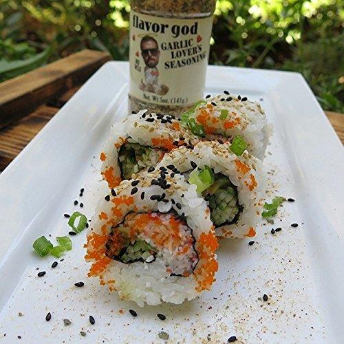 Flavor God #1 Best-Selling, Garlic Lovers Seasoning, 1 Bottle, 5 oz