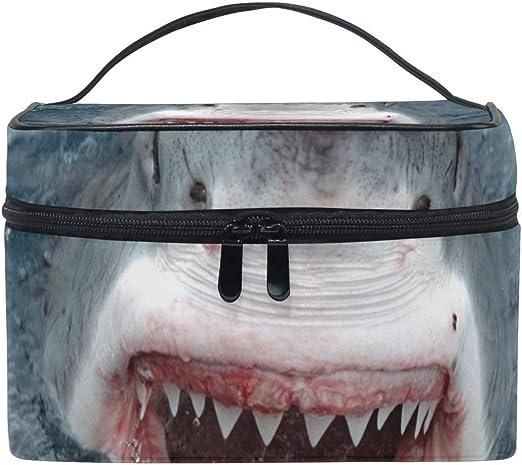 DEZIRO - Bolsa de maquillaje con dientes de tiburón, color ...