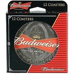 Budweiser king of beer round cardboard coasters set of 12 pieces coasters - Cardboard beer coasters ...
