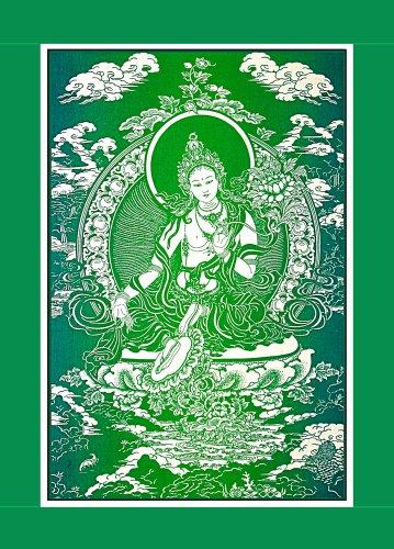 Green Tara ~ Cloth Print with Fabric Border