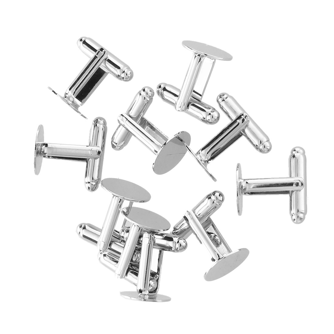 SODIAL(R) 10 Mens Cufflinks Cuff Link Backs Blanks Findings 13mm HOT by SODIAL(R) (Image #1)