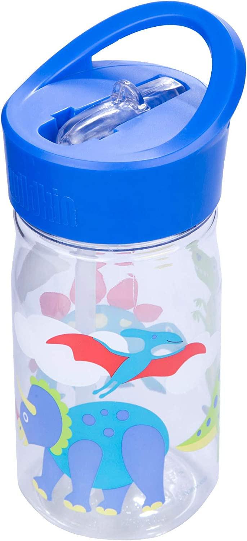 1 16 Oz Olive Kids Design Features Flip Straw for School Kindergarten Boys and Girls Wildkin Water Bottle Heroes Top Carrying Handle