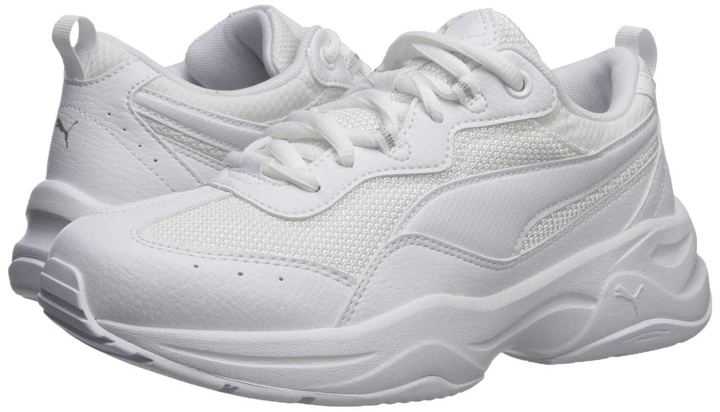 PUMA Women's Cilia Sneaker, White Gray Violet Silver, 8.5 M US