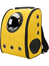 Texsens Innovative Traveler Bubble Backpack Pet Carriers for Cats and Dogs (Yellow)