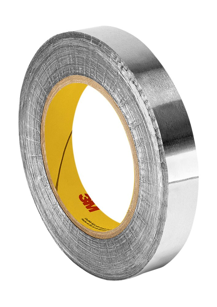 TapeCase Silver Aluminum Foil Tape with Conductive Acrylic Adhesive, Converted from 3M 1170, 18 yd Length, 1'' Width, Roll