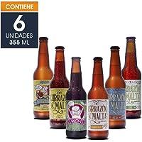 Cerveza Artesanal, Corazón de Malta, Variedad con 6 botellas de 355 ml c/u