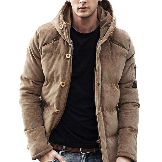 Amazon.com: Pandaie Womens ... Mens Autumn Winter Pure Color Pocket Zipper Hooded Jacket Caps Top Coat: Sports & Outdoors
