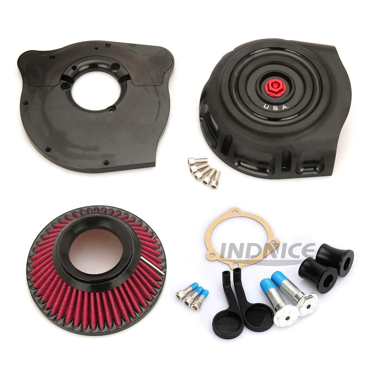 /Épurateur dair noir Vintage CNC Pour /épurateurs dair 883 sportster XL1200 1991-2019 48 72