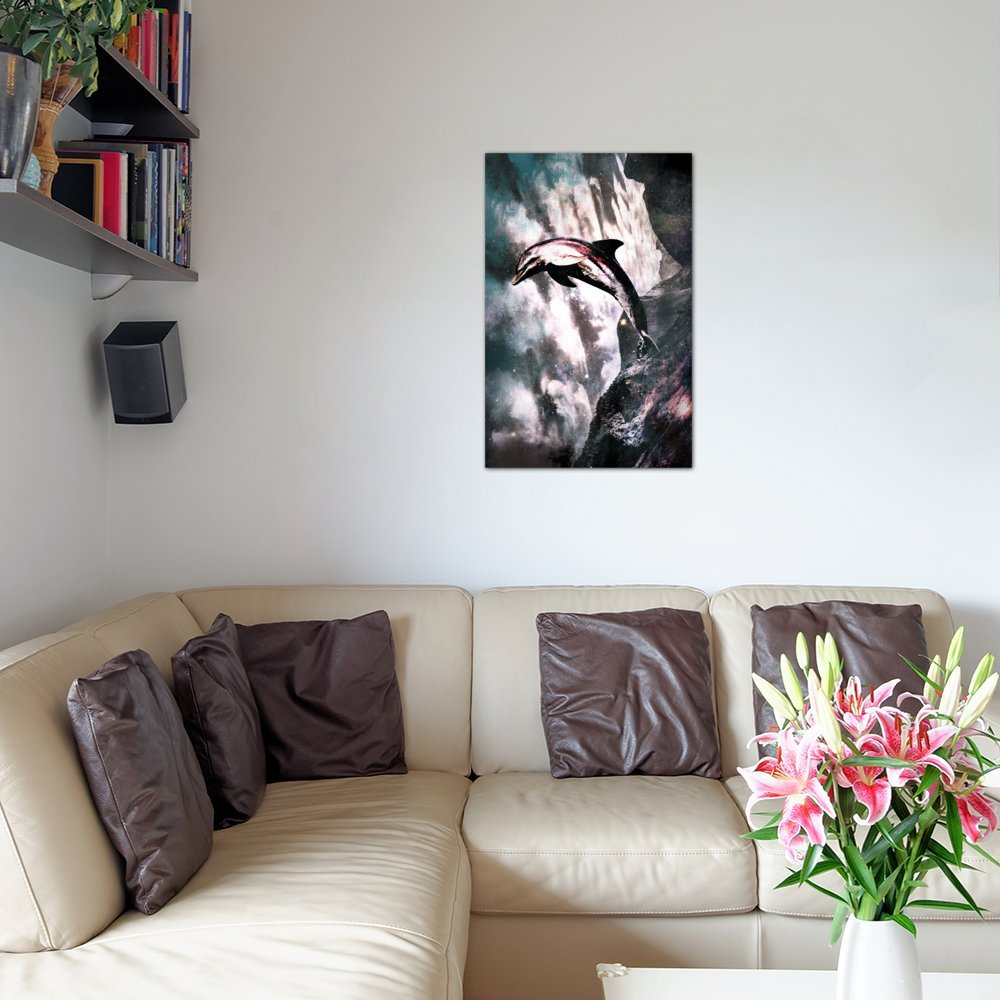 60 by 40//1.5 Deep iCanvasART 3 Piece Out of The Blue Canvas Print by Kitsch Opus