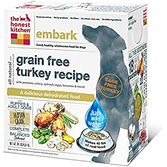 Honest Kitchen Grain Free Dehydrated Cage Free Turkey Dog Food