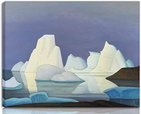 Lawren Harris Stretched Giclee Print On Canvas Famous Paintings Fine Art Poster Reproduction Wall Decor Icebergs Nk Amazon Ca Home Kitchen