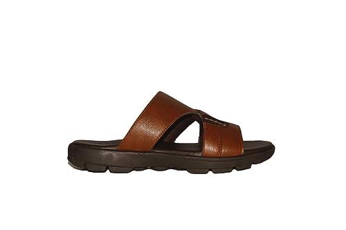 Balujas Tan Leatherette Slip On Slipper