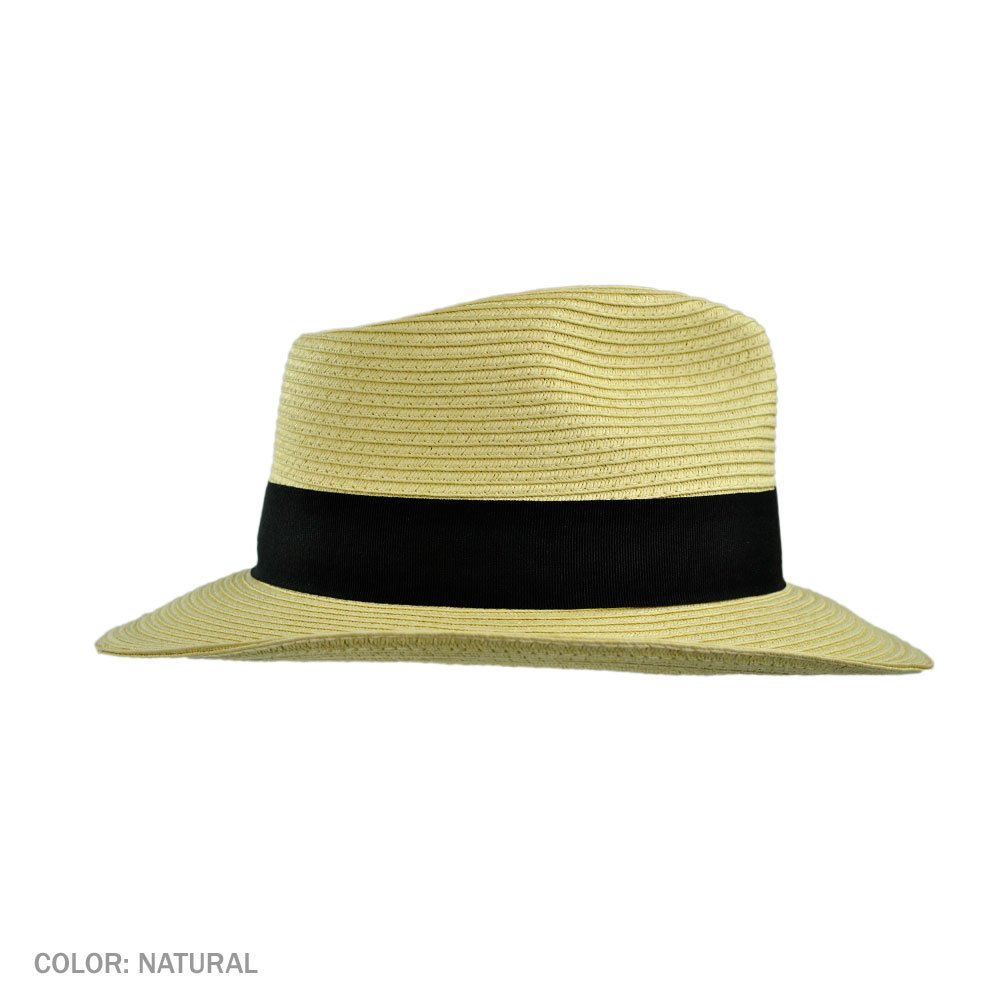 14107e5b Amazon.com: Jaxon Summer C-Crown Toyo Straw Fedora Hat: Clothing