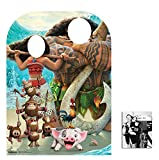 Fan Pack - Moana and Maui Child Size Stand-in Cardboard Cutout / Standup - Includes 8x10 Star Photo