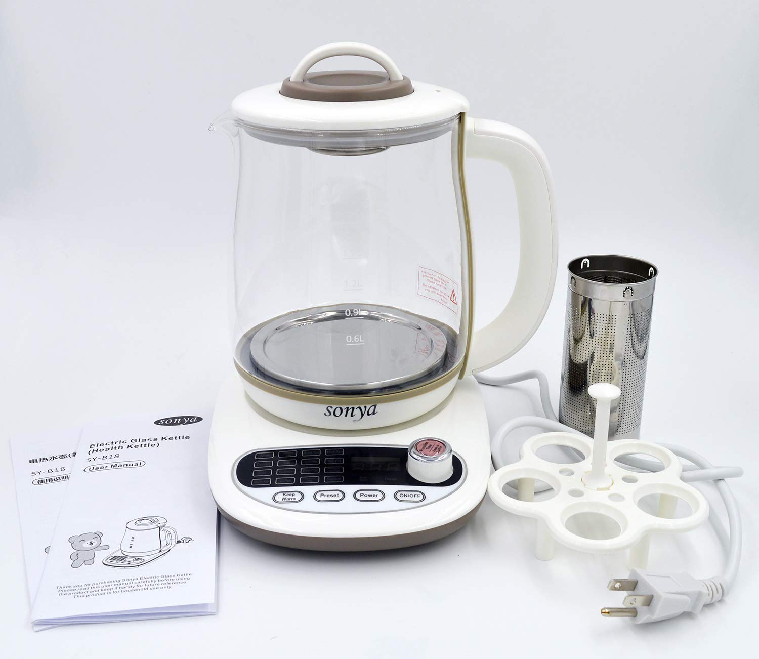 Sonya Multifunctional Electric Kettle Health Pot Tea Infuser SY-B18