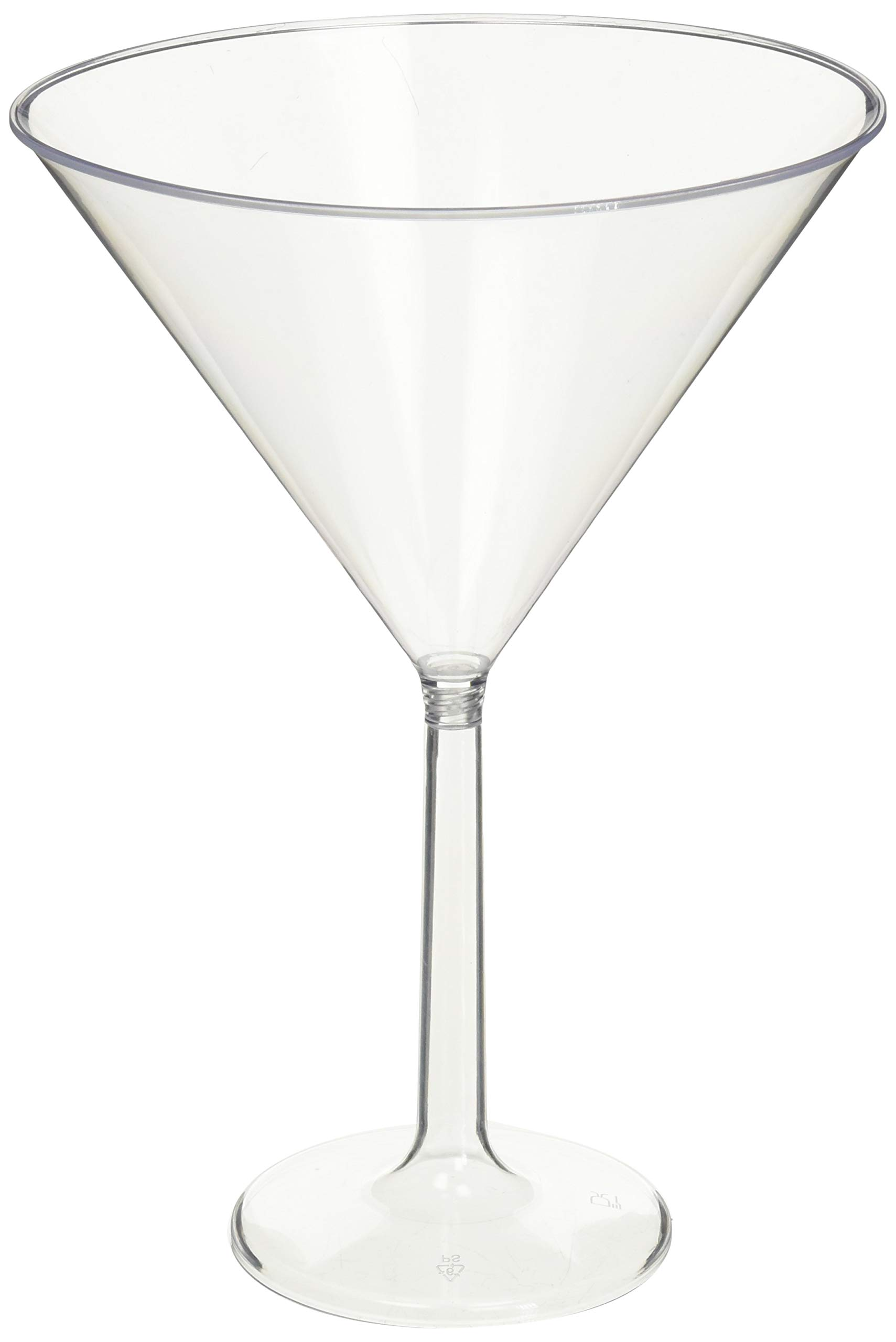 goodieGumDrops 353001.86 Plastic Martini Glasses 25oz Clear(pack of 6)