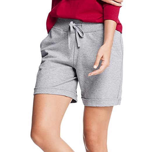 a9f66dfa7e Hanes Womens French Terry Bermuda Pocket Short at Amazon Women's Clothing  store: