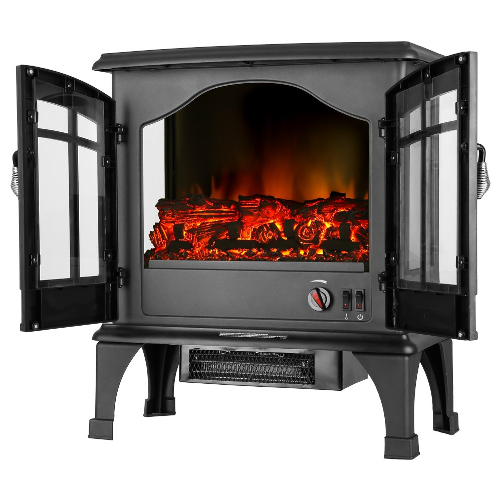 amazon com jasper portable free standing electric fireplace stove