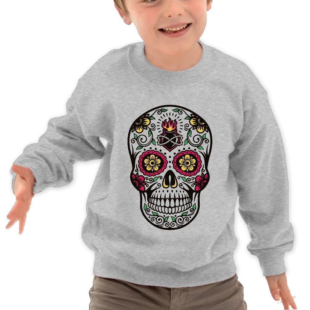 Fire Skulls children Cotton Fleeces Fashion Long-Sleeved Dress
